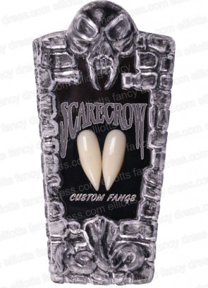 Scarecrow Saber Vampire Fangs in Coffin Box