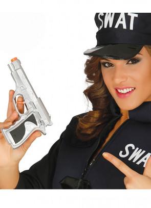 Silver Pistol - Hand Gun19cm