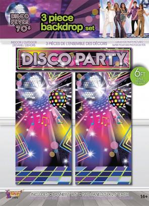 Disco Party Backdrop Scene Setter