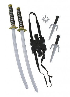 Double Ninja Sword Set 72cm