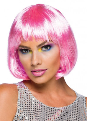 Elegant Bob Wig Pale Pink