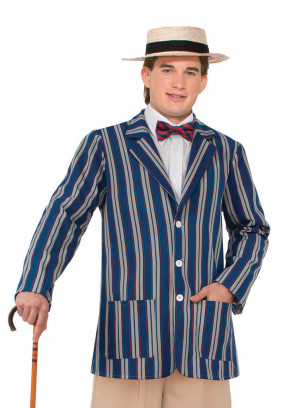 1920s Blue Striped Boaters Jacket
