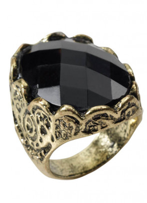 Black Stone (Medieval) Ring