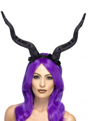 Demon Horns Headband- Lady Raven