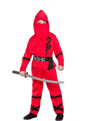 Power Ninja Red (Boys) Costume