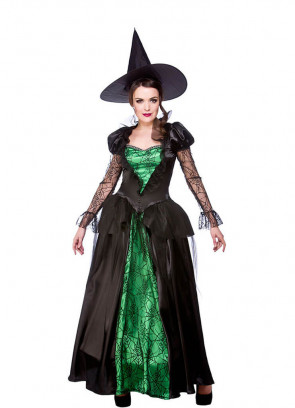 Deluxe Emerald-City Witch Queen Costume