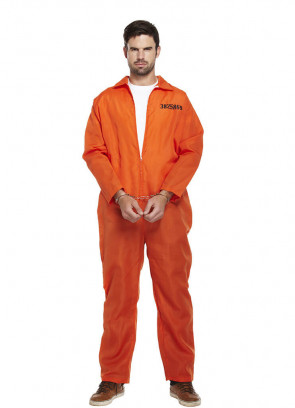Prisoner Overalls (Orange) Costume