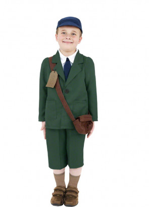 WWII Evacuee Boy - Green - Costume