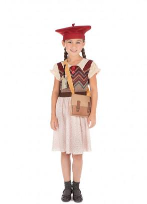 Evacuee Schoolgirl Polka Dot Costume