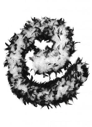Feather Boa Black & White 80g