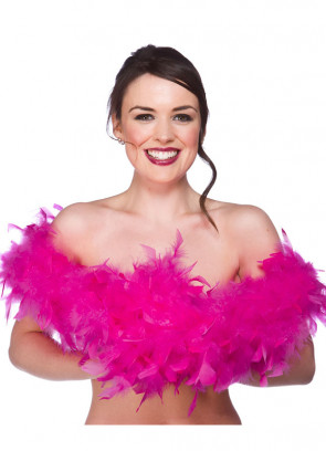 Feather Boa Bright Pink 60g