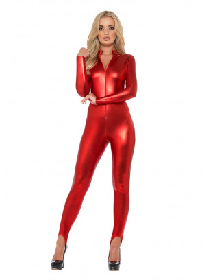 Miss Whiplash – Red Catsuit
