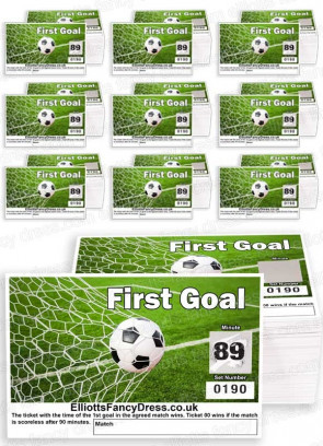 First Goal Football Scratch Cards - Fundraising Tickets 00-90 ------ 10 PACKS