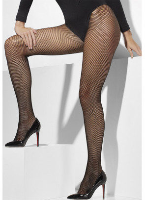 Black Fishnet Tights - XL - Dress Size 16-22
