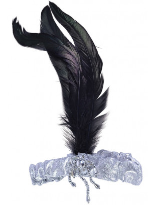 Flapper Headpiece (Silver & Black)