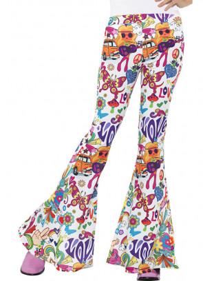 Flared Trousers – Ladies – Multi Groovy