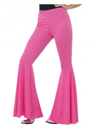 Flared Trousers – Ladies - Pink