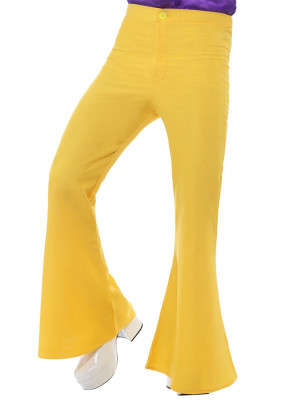Flared Trousers – Men - Yellow
