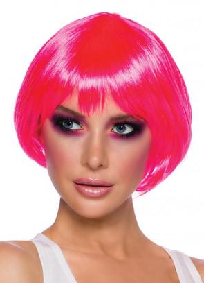 Flirty Flick Neon Pink Wig