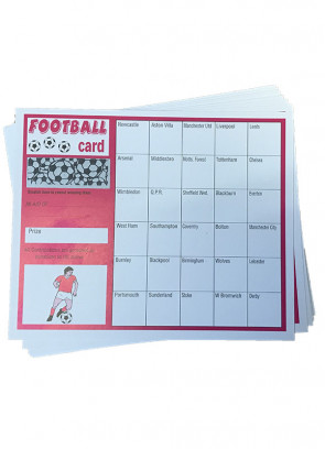 Football Cards -Pink- 30 Teams