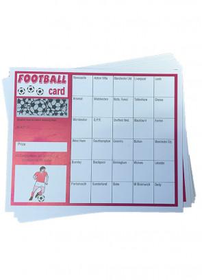 Football Cards -Pink- 30 Teams - 10 cards