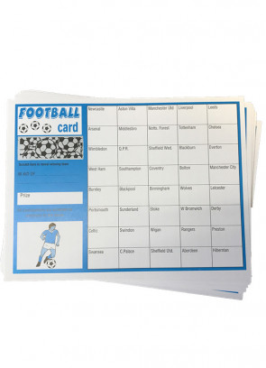 Open Stake Football Scratch Cards - 40 Teams - 10 Cards