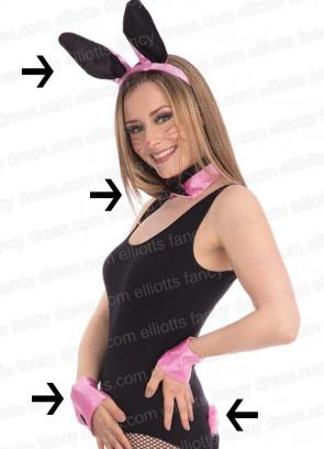 Four piece Pink Playboy Bunny Set