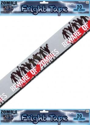 Beware of Zombies' Hazard Tape Prop