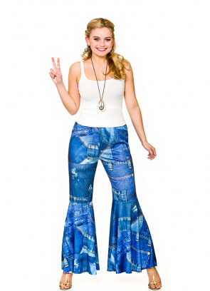 Blue Funky Hippie Flares