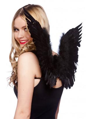 Gabriel Angel Wings (Small, Black) 40x63cm