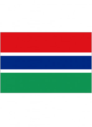 Gambia Flag 5x3