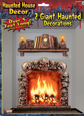 Giant Haunted House Decorations - Fireplace