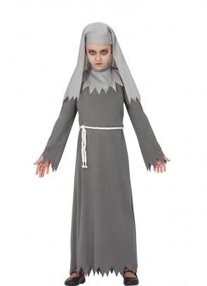 Girls Gothic Nun Costume