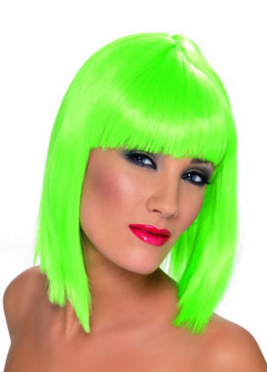 Glam Neon Green Wig