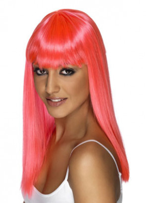 Glamourama Wig - Neon Pink