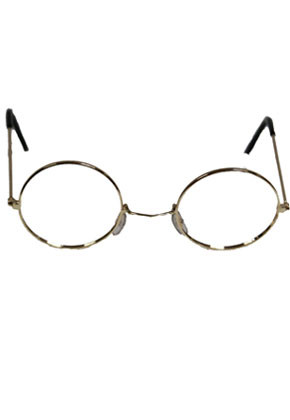 Glasses - Santa / Granny - Gold Frame Without Glass