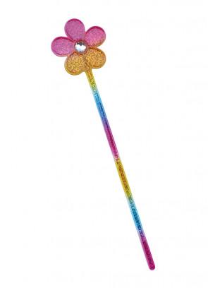 Glitter Rainbow Flower Wand