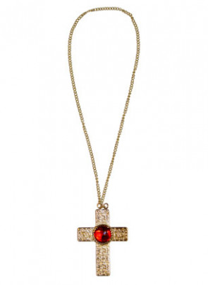 Cross Medallion (Red Stone)