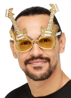 Gold Electric Guitar Glasses