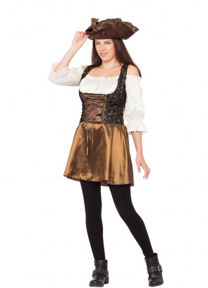 Gold Rose Pirate Costume
