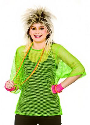 80s Mesh Top (Neon Green)