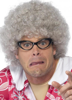 Grey Granny Perm Wig / Mrs Claus