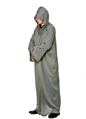 Adults Grey Hooded Robe - Fellowship