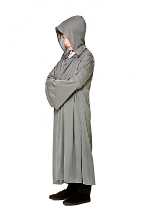 Fellowship Hooded Robe - Grey Kids