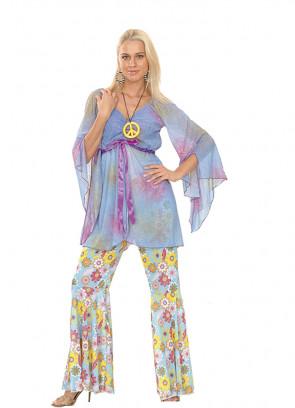 Groovy Hippie (Blue) Costume