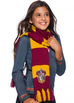 Deluxe Gryffindor Embroidered Badge Scarf 180cm - Harry Potter