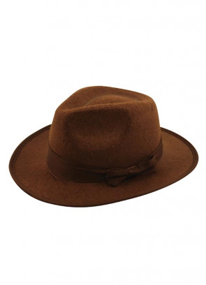 Brown Kids Gangster Hat - Fright / Indiana