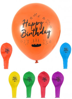 Happy Birthday Balloons (12 Pack)