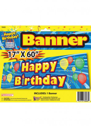 Happy Birthday Banner – 5ft Long