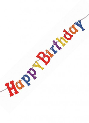 Happy Birthday Bunting – Multi Coloured - 11.5ft Long